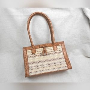 NEW Liz Clairborne Woven Small Carrying Tote Purse